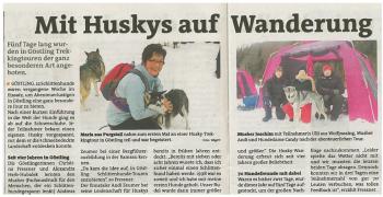 Zeitungsbericht. Göstling 2013